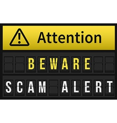 Beware Scam Alert message vector