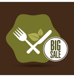 Big sale restaurant vegan food healthy vector