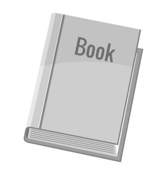 Book icon gray monochrome style vector