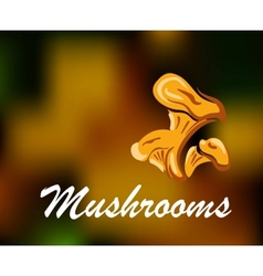 Brown and golden colored mushrooms vector