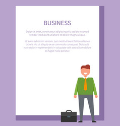 Business funny neatly-dressed businessman vector