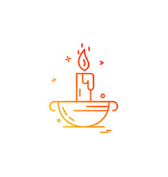 candle icon design vector image