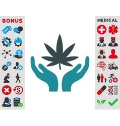 Cannabis Care Icon vector image