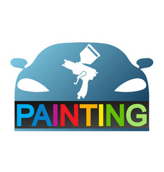 Car painting design vector