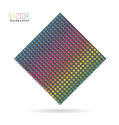 Carbon with rainbow colors vector