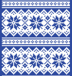 christmas winter seamless navy blue pattern vector image