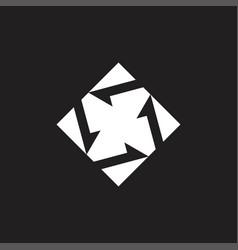 circle geometric fan symbol vector image