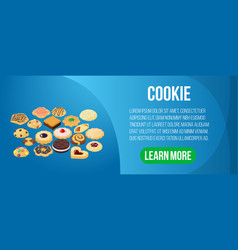 cookie concept banner isometric style vector image