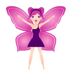 cute magic fairy fantasy creature vector image