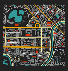 dark city map vector image