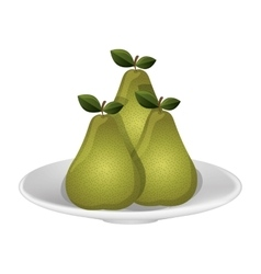 Delicious pears fruits vector image