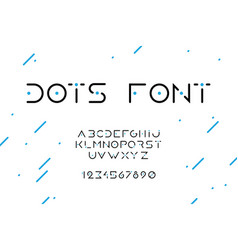 dots font minimal uppercase numbers and letters vector image