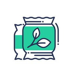 eco fertilization - modern single line icon vector image