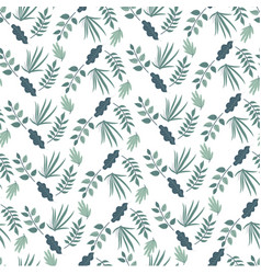 foliage bushes or flowers spring seamless vector image