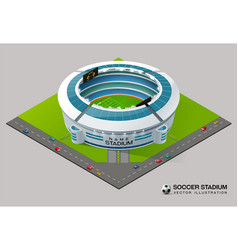 Football soccer field stadium isometric vector