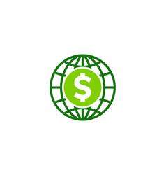 globe money logo icon design vector image