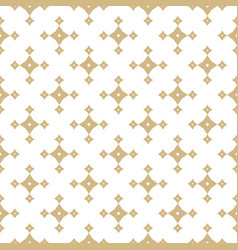 Golden geometric seamless pattern with stars vector