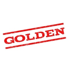 Golden Watermark Stamp vector