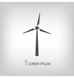 Grey wind turbine vector image