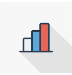 Growth graph chart market success stock bar up vector