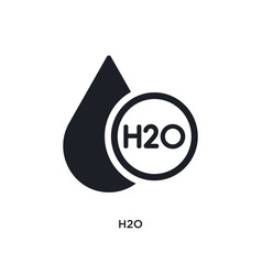 H2o isolated icon simple element from science vector