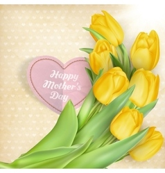 Happy Mothers Day lettering EPS 10 vector image