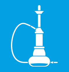 hookah icon white vector image