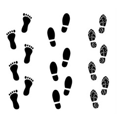 human footprint vector image