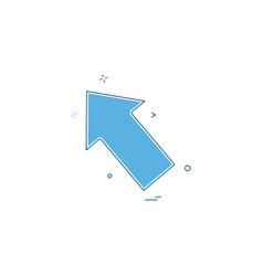 icon arrow left design vector image
