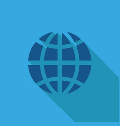 icon globe on a blue background vector image