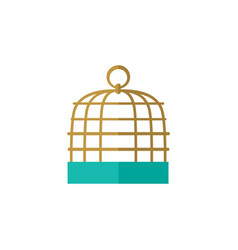 Isolated birdcage flat icon bird prison vector