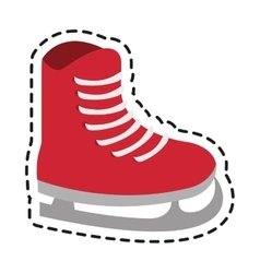 Isolated ice skate of winter sport design vector image