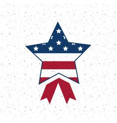 Isolated usa star flag design vector