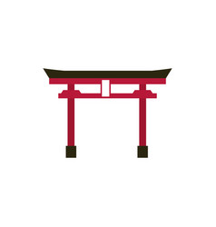 landmark gate culture traditional japan icon vector image