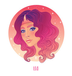 leo astrological sign as a vector image