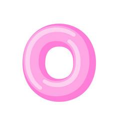Letter o candy font caramel alphabet lollipop vector