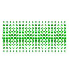 Medical pharmacy shape halftone grid vector