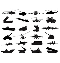Military set vector image