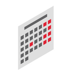 office calendar icon isometric style vector image