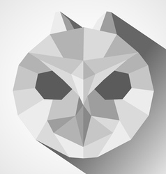 Owl head low-poly vector