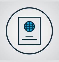 passport icon colored line symbol premium quality vector image