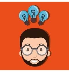 Person student idea icon vector
