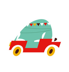 portugal car image flat style on white vector image