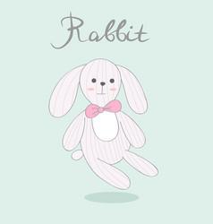 print with rabbit vector image