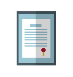 Professional certificate icon vector
