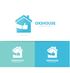 real estate and like logo combination vector image