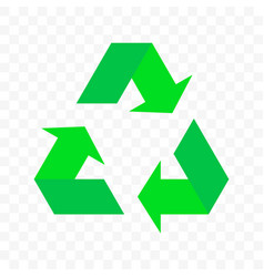 Recycle triangle arrow cycle icon eco waste reuse vector