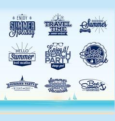 retro summer typography design vector image