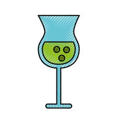 Scribble alcohol cup cartoon vector