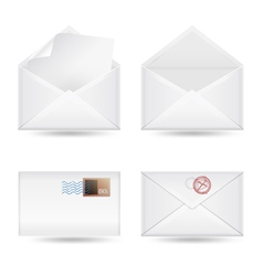 set of envelopes vector image